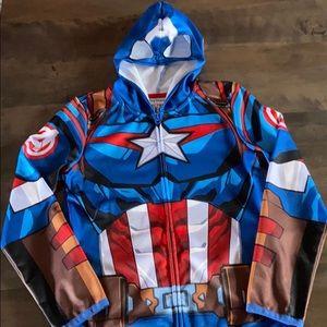 Captain America zip up mask hoodie